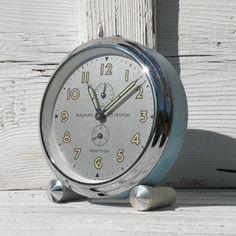 French vintage Bayard blue alarm clock, Stentor Repetition, French vintage clocks, alarm clock, blue alarm clock, shabby chic French vintage by LaBonneVie72 on Etsy