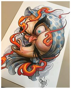 Japanese Design, Japanese Art, Tattoo Sketches, Tattoo Drawings, Japanese Mask Tattoo, Hannya Mask Tattoo, Asian Tattoos, Japan Tattoo, Oriental Tattoo