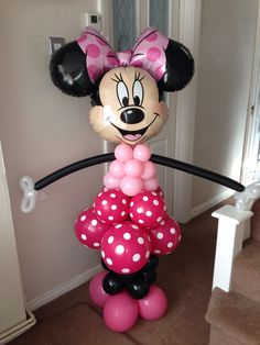 Minnie Mouse made with Balloons