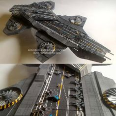 S.H.I.E.L.D. Helicarrier 64 Paper Model | Tektonten Papercraft