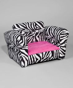 Take a look at this Pink & Zebra Club Chair by Funky Kids by Mauricio's Furniture on #zulily today!