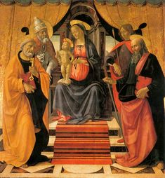 The Athenaeum - Madonna and Child Enthroned with Saints (Domenico Ghirlandaio…
