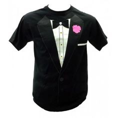Tuxedo T-Shirt $9.99 Pink Bachelorette Party, Tuxedo T Shirt, Stag And Doe, Party Needs, Save The Queen, T Shirt Costumes, God, Clothing, Mens Tops