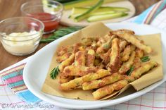 Zucchine impanate al forno Finger Food, Green Beans, Chicken, Meat, Vegetables, Contouring, Food, Italy, Recipies