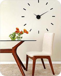 DIY giant wall clock