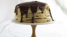 Pati's son Juju gives her the idea to make a giant Chocolate Crepe Tower with layers of crepes and chocolate pastry cream spread in between, then topped with. Chocolate Crepes, Giant Chocolate, Mexican Chocolate, Chocolate Ganache, Patis Mexican Table, Mexican Food Recipes, Ethnic Recipes, Cupcake Cakes, Cupcakes