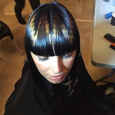 Backstage with the real originators Hair Stenciling, Pixel Color, Fantasy Hair, Skinhead, Hair Coloring, Funky Hairstyles, Hair Dye, Dreads, Backstage