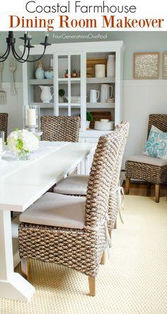 Dining Room Makeover {coastal