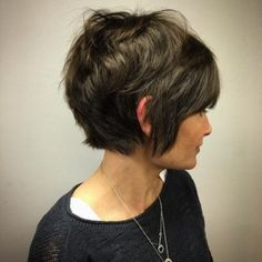 Long Pixie with Bangs Short Hairstyle