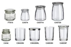Specialty Bottle - Candle Glass Jars