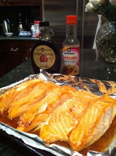 Sonja Morgan- NY Housewives toaster oven recipes    Ingredients:  Salmon, 4 to 6 pieces per tray  Soy or Teriyaki sauce  Maple syrup Grade B*  Directions:    via here: http://sonjamorganonline.sonjaproductions.com/blog/