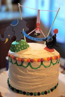 one thing i know is that i have great friends. currently, 2 of my besties, erin & jr , are pregnant with little boys. this last week wa. Circus Theme, Circus Baby, Lion Cakes, Great Friends, Little Boys, Cake Toppers, Birthday Cake, Baby Shower, Besties