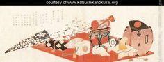 Stage Properties for a Farewell Performance - Katsushika Hokusai - www.katsushikahokusai.org