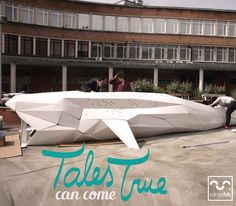 Some times, tales can come true! Moby Dick made out cardboard for children activities. Designed by Cartonlab. #MobyDick #children