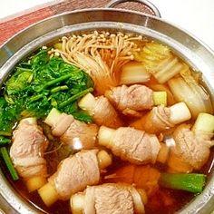 ねぎ豚巻きで☆風邪知らずの健康鍋。〜生姜スープ〜