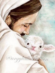 Jesus Christ Images, Jesus Art, Watercolor Print, Watercolor Paintings, Paintings Of Christ, Heavenly Father, Animes Wallpapers, Family Gifts, Catholic