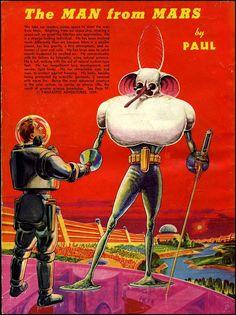【アート】フランク・R・パウルの未来、1940年に描かれた太陽系の生物と人類 : 付録部 blog-bu