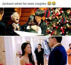 XD I'm Jackson.we are all Jackson Meme Got7, Bts E Got7, Got7 Funny, Funny Kpop Memes, Got7 Jackson, Wang Jackson, Jackson Wang Funny, Youngjae, Yugyeom