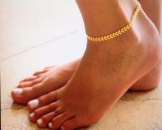 Fishbone Gold Plated Chain Anklets Fashion Ankle Foot Jewelry Body