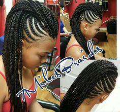 black women s hairstyles 2018 Braided Mohawk Black Hair, Braided Mohawk Hairstyles, Braided Hairstyles For Black Women, Black Girl Braids, African Braids Hairstyles, Braids For Black Hair, Protective Hairstyles, Pretty Hairstyles, Braided Updo