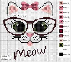 Cross Stitching, Cross Stitch Embroidery, Embroidery Stitches, Pixel Art, Pixel Crochet Blanket, Cross Stitch Boards, Donia, Cross Stitch Animals, Sewing Projects