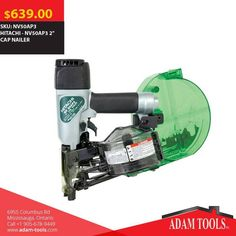 """Now available at Adam tools with great price HITACHI - NV50AP3 2"""" CAP NAILER Visit our website for more information and special offers ...  http://www.adam-tools.com/power-tools/nv50ap3-2-cap-nailer.html #canada #mississuaga #power_tools #building_supplies #Shopping #powertools #contractors #subcontractors #construction #Hitachi #NV50AP3 #CapNailor"""