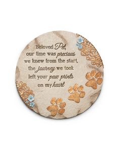 """Beloved Pet, 10"""" Garden Stone - Light Your Way Memorial - Pavilion Gift Company"""
