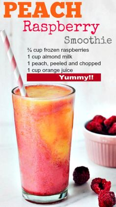 Low fat, low energy peach and raspberry smoothie to . - Low fat, low energy peach and raspberry smoothie to . Charlyxx Backen Low fat, low energy peach and raspberry smoothie to . Fruit Smoothie Recipes, Raspberry Smoothie, Easy Smoothies, Smoothie Drinks, Snack Recipes, Diet Drinks, Low Calorie Smoothies, Lunch Smoothie, Energy Smoothies