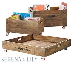Under The Bed Storage On Wheels Diy Rolling Toy Storage Crates  Pinterest  Storage Crates Toy