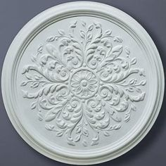 CC1 Small Leaf Plaster Ceiling Rose 380mm Diameter