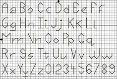 free printable cross stitch patterns alphabet | Free Four Stitch High Back Stitch Alphabet and Numbers Pattern - Free ...