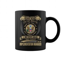 Implementation Manager Brave Heart Job Title Mug LIMITED TIME ONLY. ORDER NOW if you like, Item Not Sold Anywhere Else. Amazing for you or gift for your family members and your friends. Thank you! #implementation #shirts