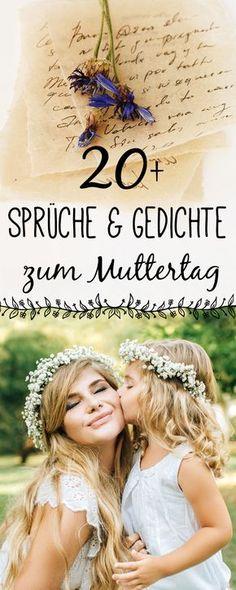 Eine Sammelung liebevoller Muttertagsgedichte und Sprüche.