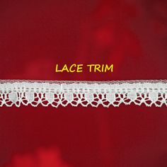 12 YARDS, WHITE Ruffle Lace Sewing Trim, Machine Crochet, Scallop Edge, Circles, 1/2 Inch Wide, L325 by DartingDogCrafts on Etsy