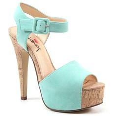 Luichiny April Daze Mint Platform Sandal ahh I love shoes Fancy Shoes, Me Too Shoes, Ella Shoes, Dress And Heels, Beautiful Shoes, Shoes Sandals, Mint Shoes, Heeled Mules, Peep Toe