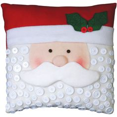 Santa Face Pillow Kit.  The buttons really make this cute.