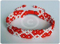 Bratara noduri martisor, rosu si alb #redwhite #martisor #martie