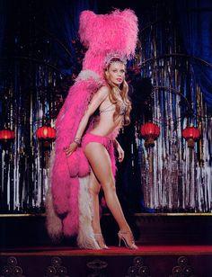 pink showgirl Kylie Minogue