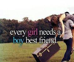 Every girl needs a boy best friend...
