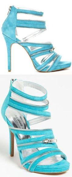 Ice Blue Zipper Heels ♥ L.O.V.E.