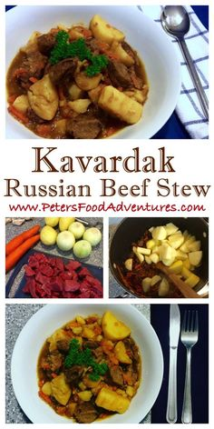classic winter beef stew common in Russia, Uzbekistan and across Soviet countries. Kavardak - Beef Stew (Кавардак) RecipeA classic winter beef stew common in Russia, Uzbekistan and across Soviet countries. Eastern European Recipes, European Cuisine, Russian Dishes, Russian Recipes, Canadian Recipes, Beef Recipes, Soup Recipes, Cooking Recipes, Game Recipes