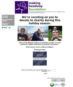 Making Headway Foundation's Giving Tuesday Campaign Submission