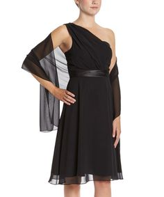 This Black Asymmetrical Dress & Scarf - Women by DFI is perfect! #zulilyfinds