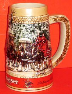 Budweiser Beer Stein --Collector's by Riverripples on Etsy Budweiser Steins, German Beer Mug, Clydesdale Horses, Beer Company, Home Brewing Beer, Baby Groot, Beer Stein, Beer Mugs, Rose Wallpaper