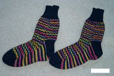 Prism pattern by Jaya Srikrishnan ~ FREE pattern slipped stitches Striped Socks, Knitting Videos, Slip Stitch, Knitting Socks, Ravelry, Free Pattern, Knitting Patterns, Knit Crochet, Slipper