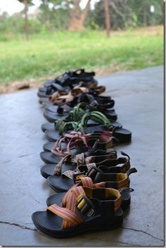 Someday, I would love to have this many pairs of Chacos! This is heaven!
