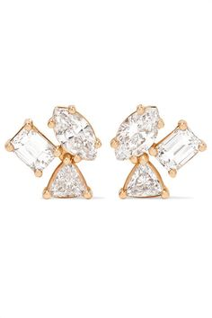 Kimberly McDonald | 18-karat rose gold diamond earrings | NET-A-PORTER.COM