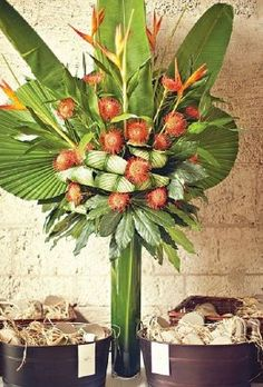 Arreglos florales tropicales