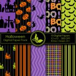 Free Halloween Digital Papers