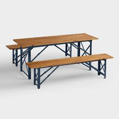 German beer garden table and bench